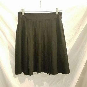 "Final THEORY BLACK PLEATED A-LINE ""Rochus"" SKIRT"
